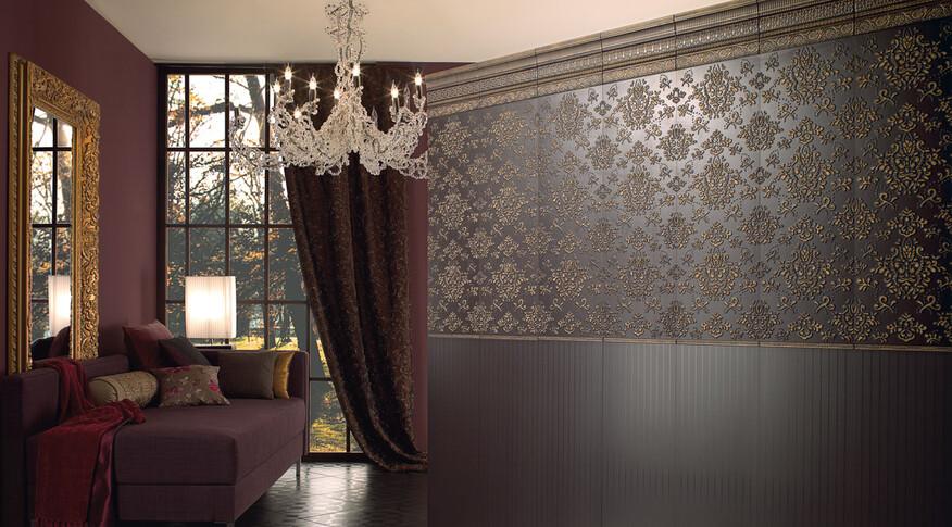 Prunkvolle, kunstvolle Ornamente, geometrische Muster und florale Elemente: Das ist La Diva von Villeroy & Boch.