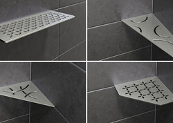 Mehr Organisation im Bad mit Ablageflächen von Schlüter Systems SHELF