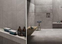 Fliesen-Trend: Betonoptik im Badezimmer