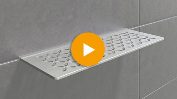 Schlüter SHELF-W Wandauflage für jedes Bad und jede Dusche.