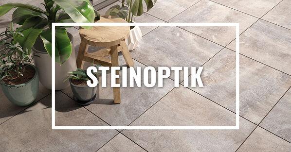 Terrassenplatten in Steinoptik