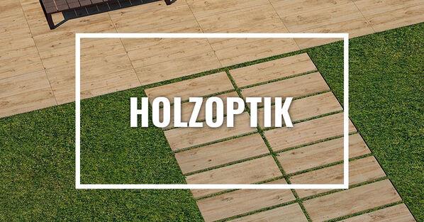 Terrassenplatten in Holzoptik