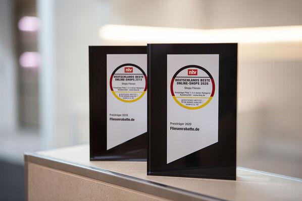 Das beste Preis-Leistungs-Verhältnis unter den deutschen Online Fliesen Shops - bereits zwei Jahre in Folge!