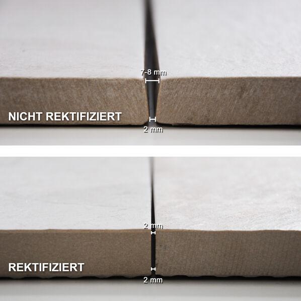 unterschied zwischen rektifiziert und nicht rektifizierte Terrassenplatten präsentiert von Fliesenrabatte.de