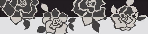 Eine Dekorfliese der Serie Villeroy & Boch Melrose mit Rosendesign.