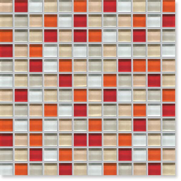 Glas-Mosaik von Agrob Buchtal Tonic in Rot-Beige-Mix