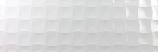 Millenium Blanco 30x90 cm Dekor Quilt Brillo brillo strukturiert glänzend
