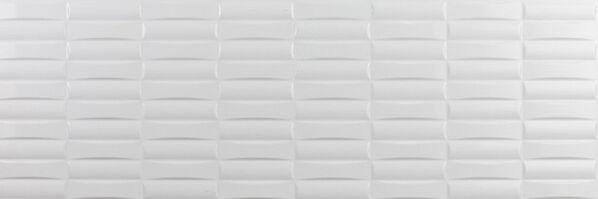 Millenium Blanco 30x90 cm Dekor Rubik Brillo brillo strukturiert glänzend