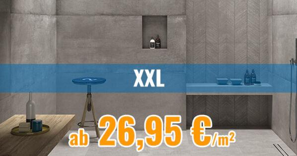 xxl fliesen gro formatige fliesen ab 26 95 bei fliesenrabatte. Black Bedroom Furniture Sets. Home Design Ideas