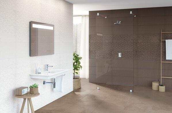 Villeroy & Boch Newtown - Braun ist ein warmer Ton für den Boden, der eine elegante Atmosphäre erzeugt.