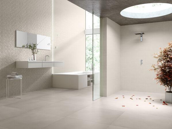 Keraben Groove Sand concept art sand 40x120 evolution beige 75x75