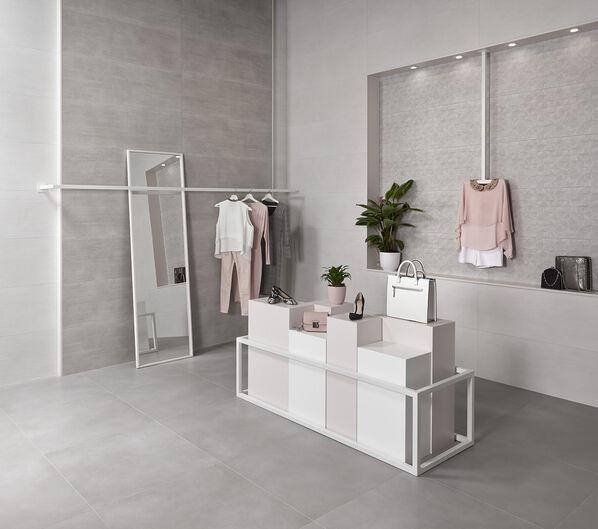 Keraben Groove snow art grey concept grey 40x120 Evolution gris 75x75