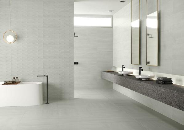 Keraben Elven, Dekor Concept, Blanco in 30x90cm.