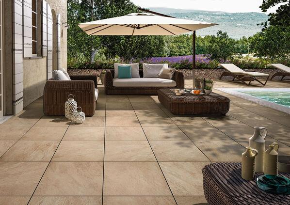 Holen Sie den Sommer auf Ihre Terrasse mit My Earth Outdoor Beige Multicolor.