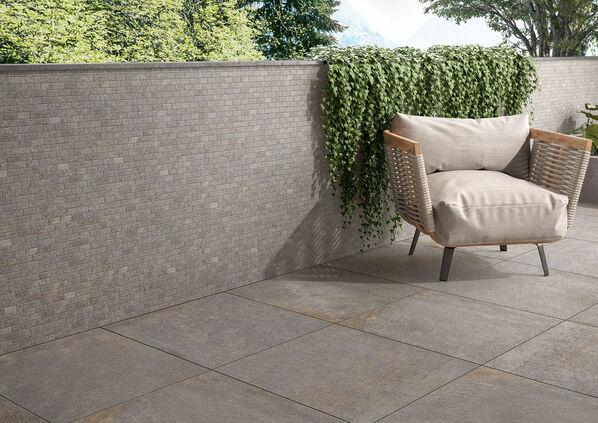 Die Terrassenplatten Tucson Outdoor 20 sind mit einer authentischen Steinoptik versehen.