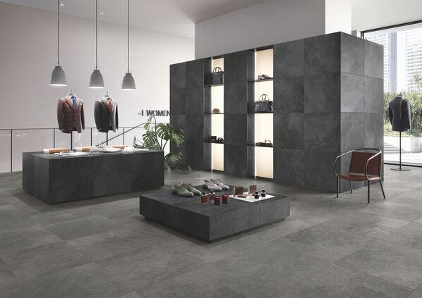 Villeroy & Boch, Gateway Die dunklen Fliesen von Gateway sind ausdrucksstark und können den Industrial Style als auch einen natürlichen, wohnlichen Look erzeugen.
