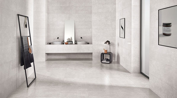Love Tiles, Marble in der Farbe Light Grey.