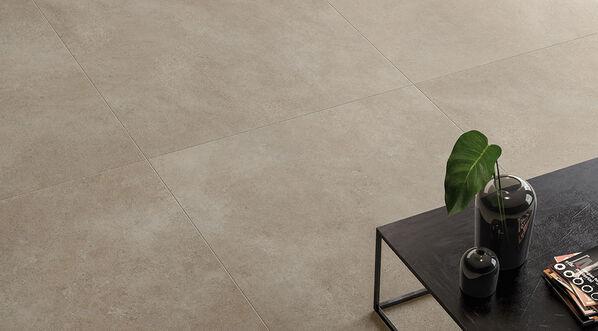 Villeroy & Boch, Hudson Optima, Clay Die Farbe Clay gehört zu den beiden dunkleren Farbtönen von Hudson Optima. Der beigebraune Fabrton sorgt für ein modernes Fliesenbild.