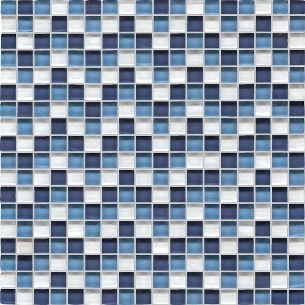 Glas-Mosaik von Agrob Buchtal Tonic in Weiß-Blau-Mix
