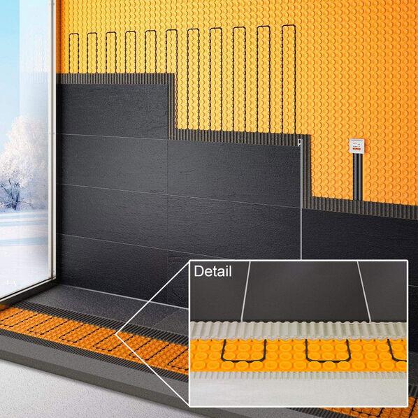 Beispiel einer Verlegung von Schlüter Systems Ditra-Heat-E