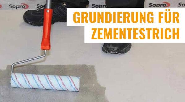 Grundierung für Zementestrich