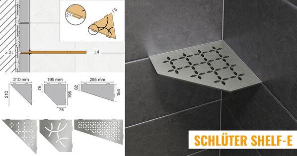 Schlüter Systems Shelf-E Wand Ablagesystem