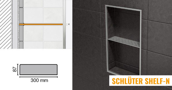 Schlüter Systems Shelf-N Wand Ablagesystem