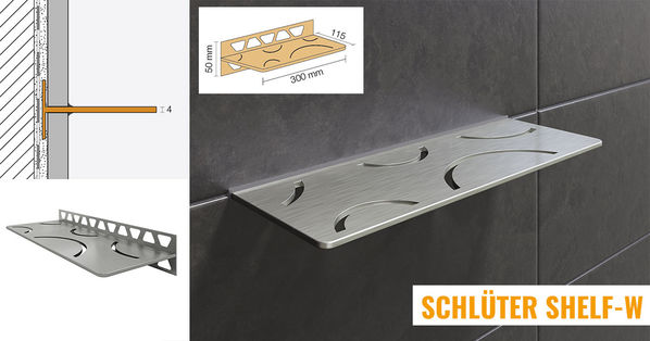 Schlüter Systems Shelf-W Wand Ablagesystem