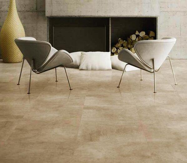Enmon Concrete Bodenfliesen in der Farbe Beige.