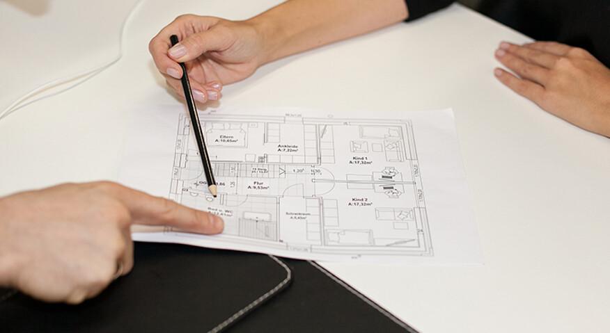 Um eine 3D Badplanung zu ermöglichen, benötigen wir von Ihnen lediglichen einen Grundriss oder einen Bauplan.