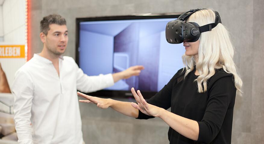 Nach unserer Umsetzung können Sie Ihr Projekt live mit der VR Brille betreten und erleben.