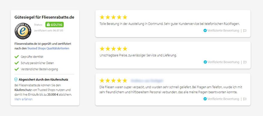Trusted Eshops Bewertungen