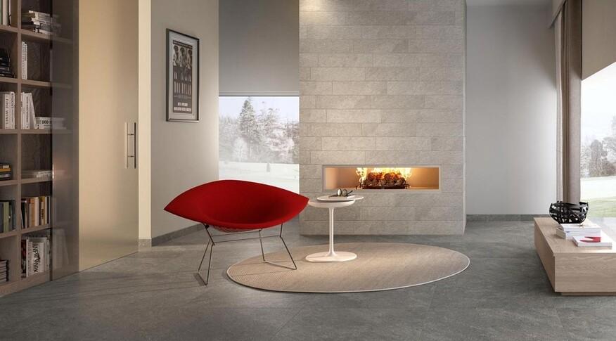 Villeroy und Bochahmt in der Serie Alta den Naturstein Quarzit perfekt nach und erschafft sanft glitzernde und naturgetreue Aderungen