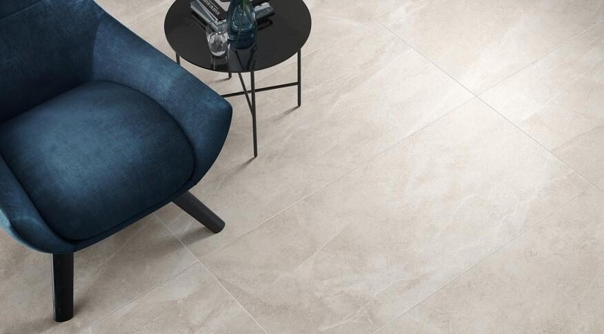 Villeroy & Boch kombiniert mit Bellagio Naturstein und Kunststein und erschafft eine dynamische Oberfläche, die die Eleganz von Marmor genauso wie die aufregende Oberfläche des Terrazzo transportiert.