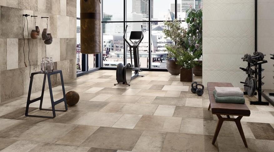 Die hochwertigen Fliesen von Workshop sind mit der Rutschhemmungsklasse R9 ausgestattet. Zudem sind robust, pflegeleicht und reinigungsfreundlich.