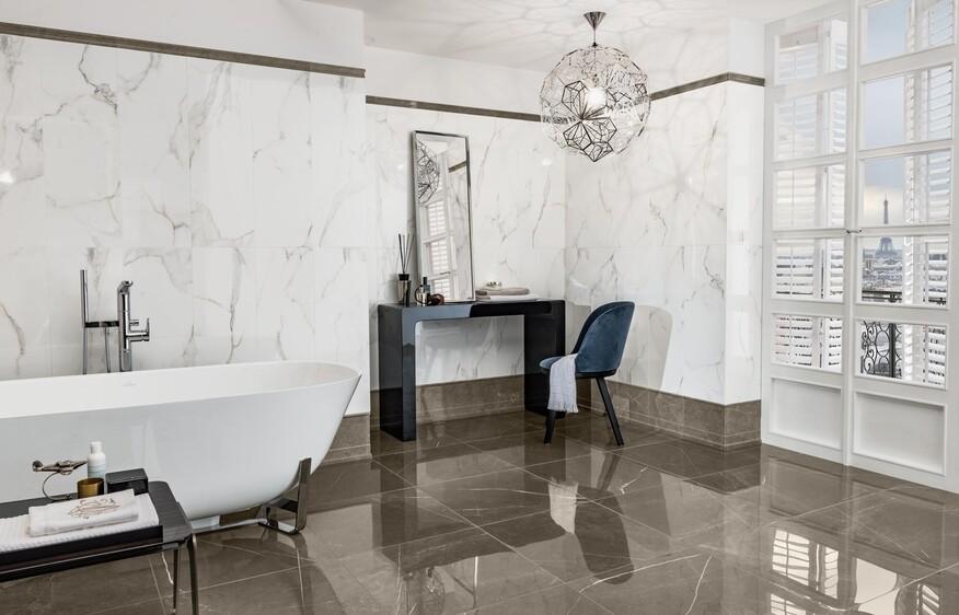 MarmoChic begeistert mit seiner Vielfalt für Wände und Böden, angelehnt an die Natürlichkeit von echtem Marmor.