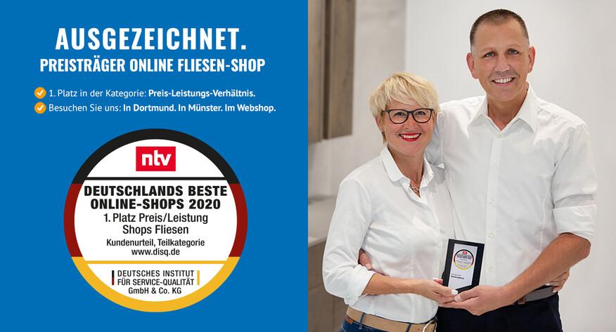 Zweifacher Preis-Leistungs-Sieger: Fliesenrabatte.de