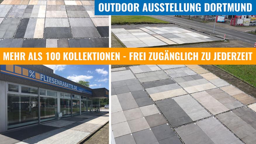 Fliesenrabatte.de Ausstellung Terrassenplatten Dortmund