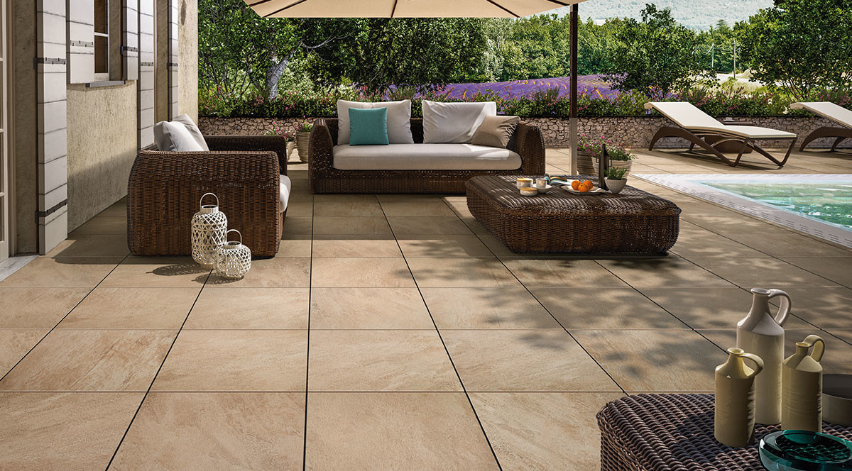 Villeroy & Boch My Earth Outdoor Beige Multicolor 80x80