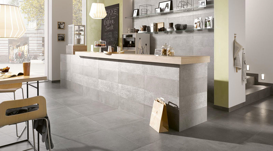 Steuler Beton Küche Grau