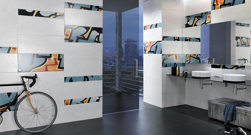 Steuler Graffiti Badezimmer Dekorfliesen