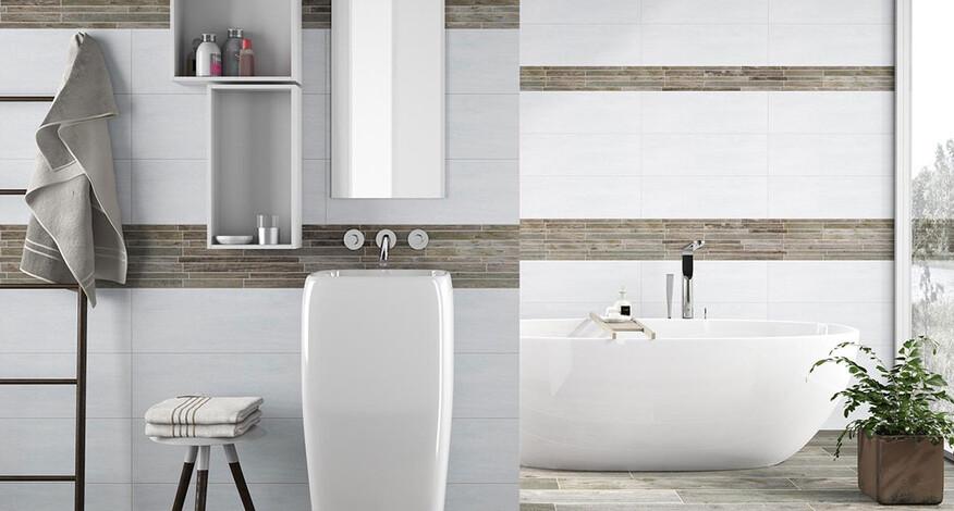 Steuler Fliesen Midland Badezimmer hell weiß