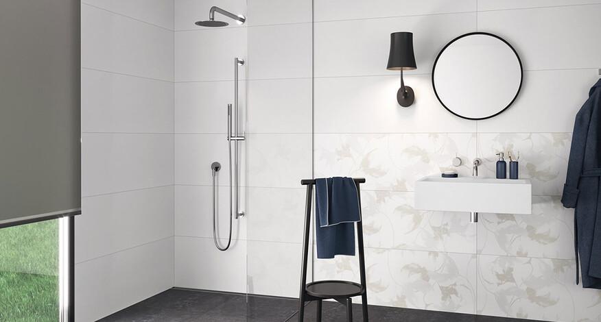 Steuler Fliesen Pure White Badezimmer