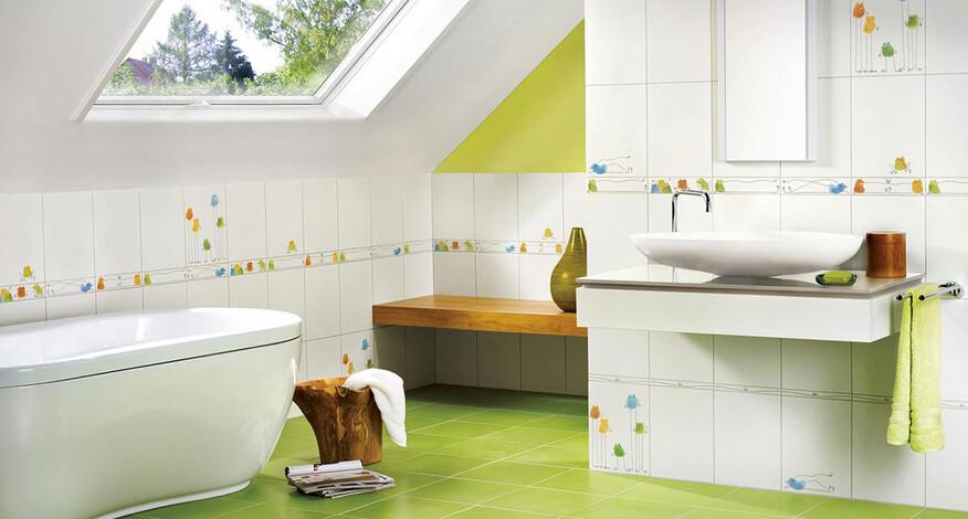 Steuler Fliesen Quaaak! Badezimmer grün