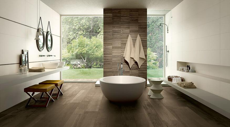 Wood Side Fliesen nut von Kronos Ceramiche Badezimmer