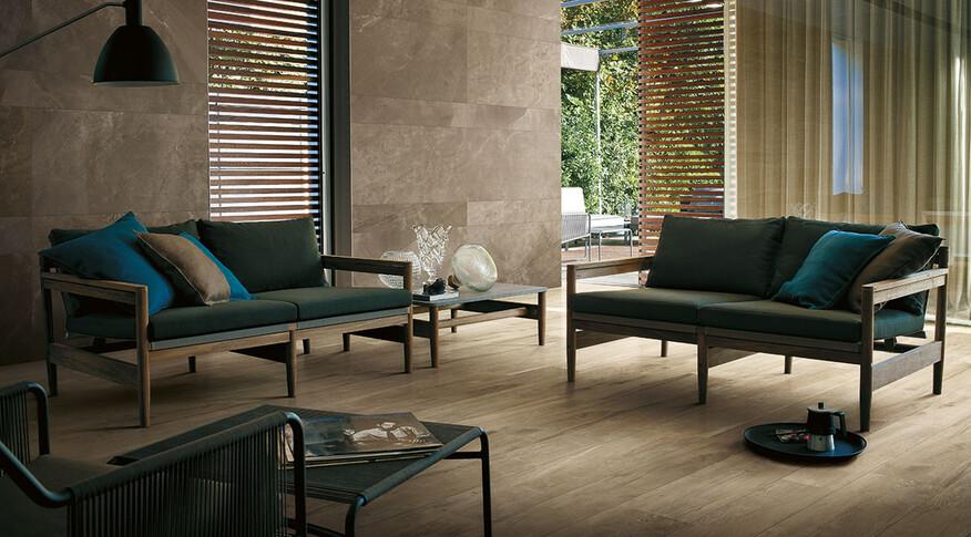 Wood Side Fliesen oak von Kronos Ceramiche wohnzimmer