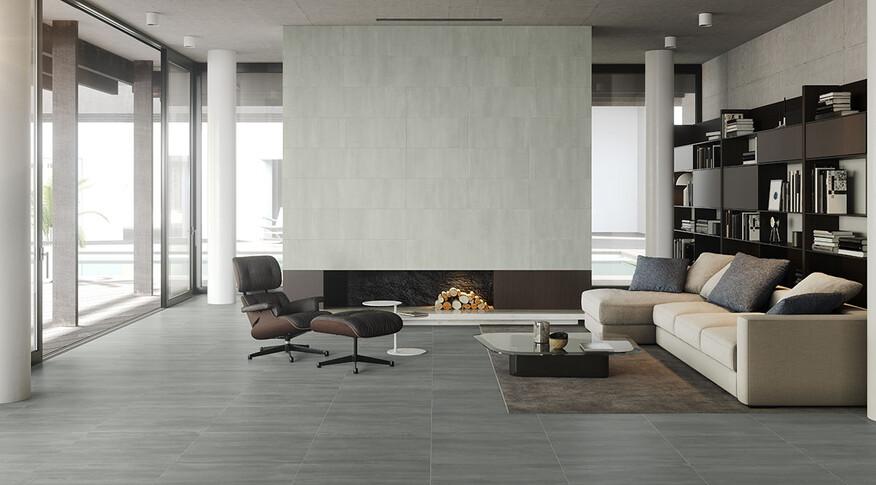 keraben elven grafito 75x75 blanco 37x75 Wohnzimmer