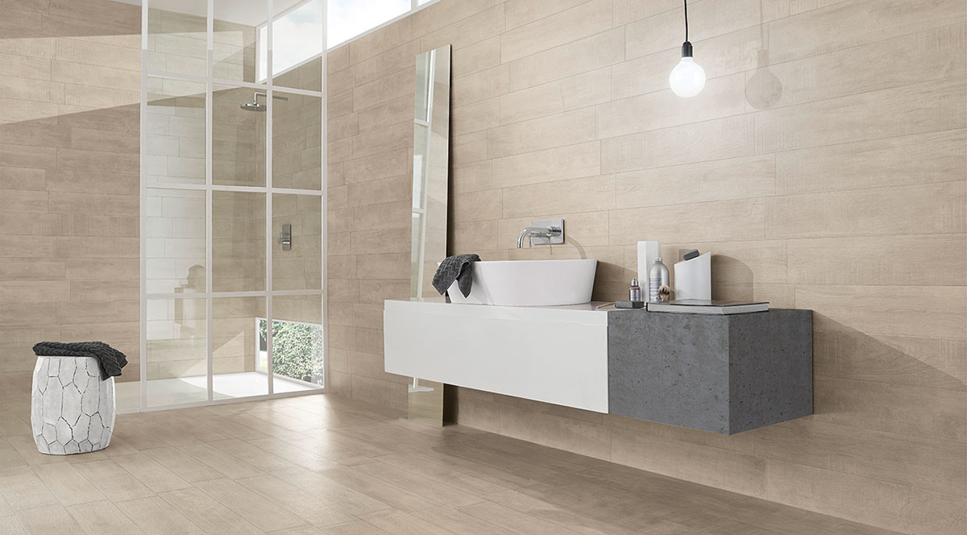 love tiles wildwood beige wc