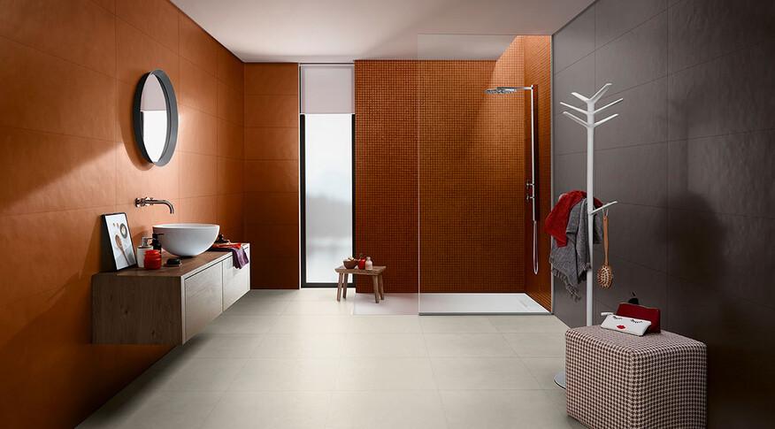 love tiles splash orange antracite wc
