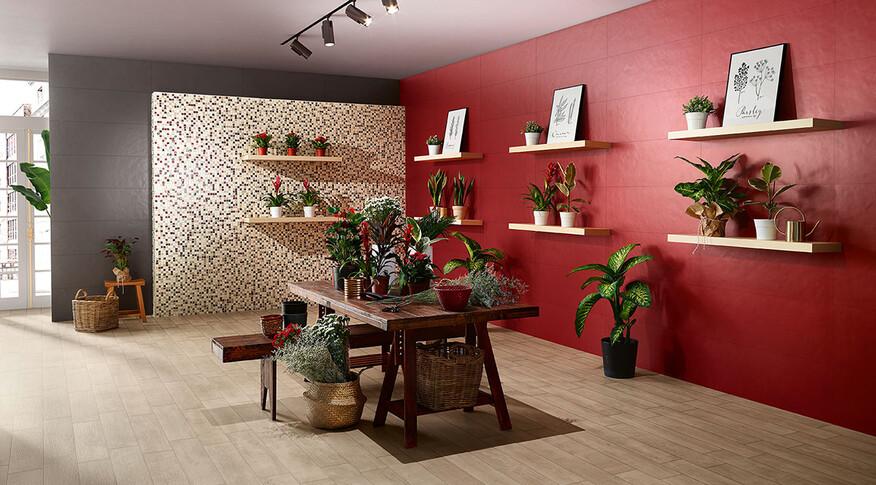 love tiles splash red antracite florista